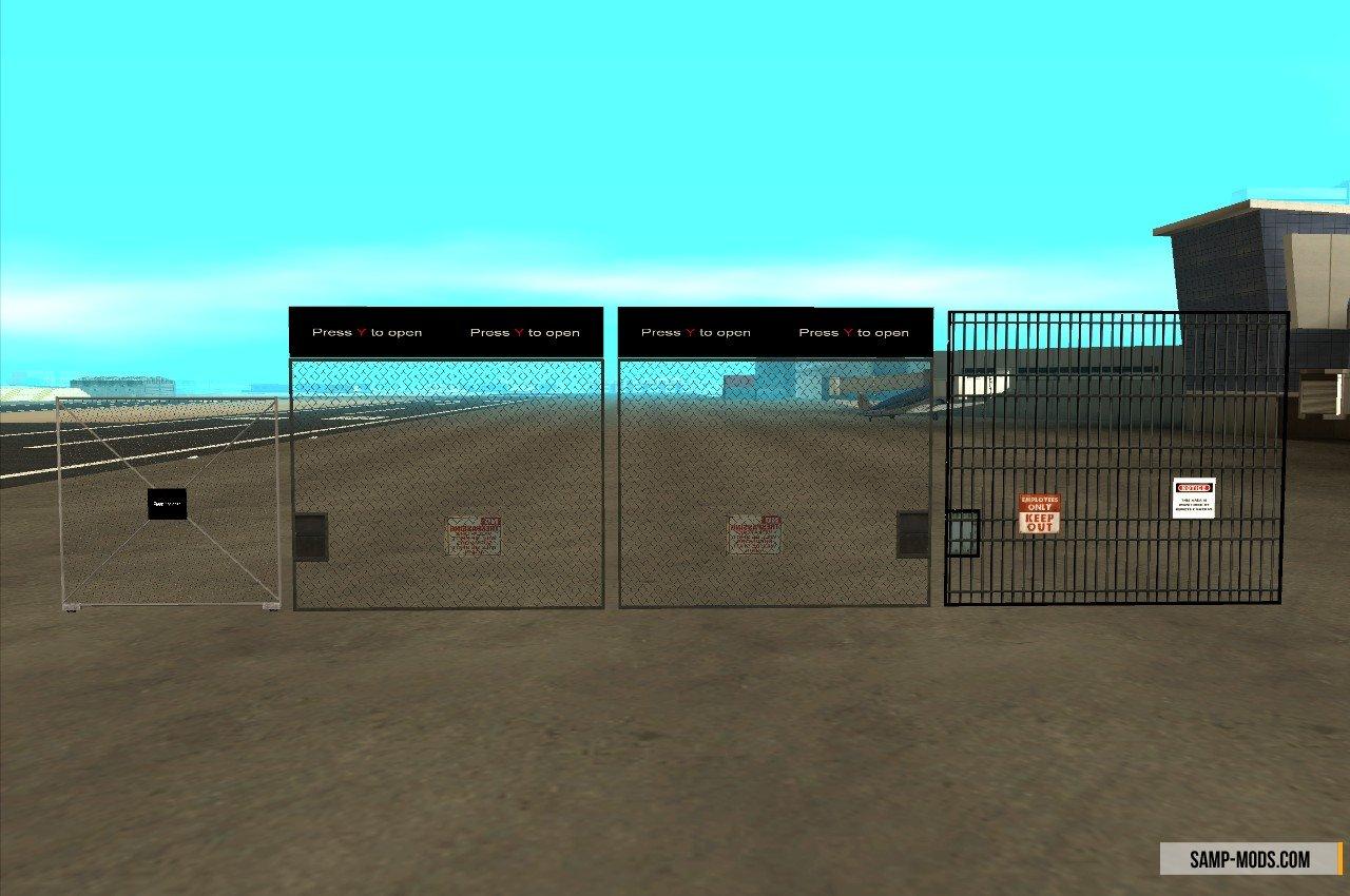 ворота на сервере в samp