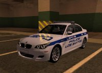 Скриншот к файлу: BMW M5 E60 Police LS для GTA San Andreas