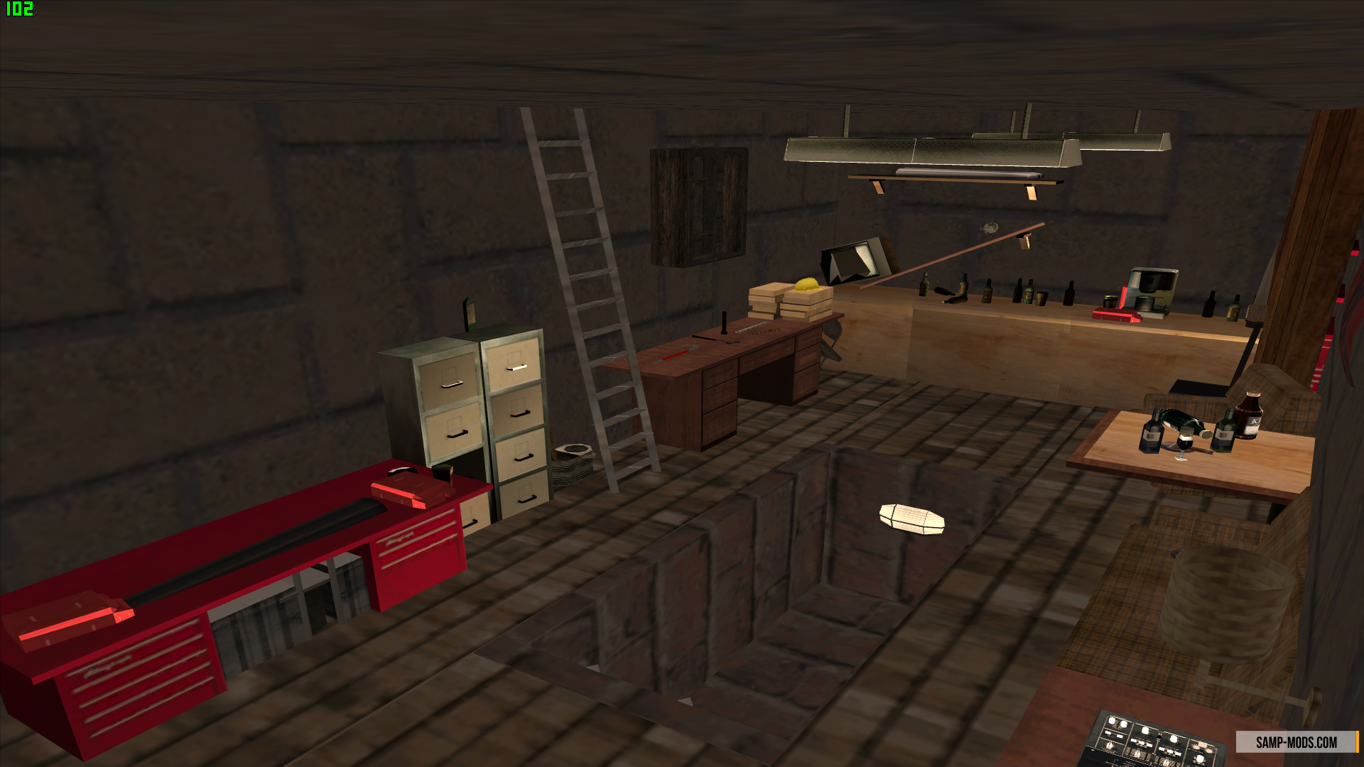 Интерьер гаража samp