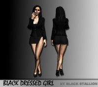 �������� � �����: Black Dressed Girl