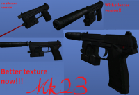 �������� � �����: MK23 SOCOM with silencer and retexture