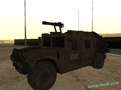 Humvee with Modern Warfare 2 Minigun